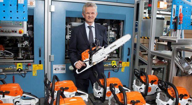 Dr. Bertram Kandziora ist CEO von Stihl, der meistverkauften Motorsägenmarke weltweit.