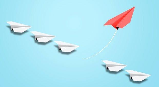 Kreativer Höhenflug: Die Question-Storming-Methode soll frische Ideen ins Team bringen.