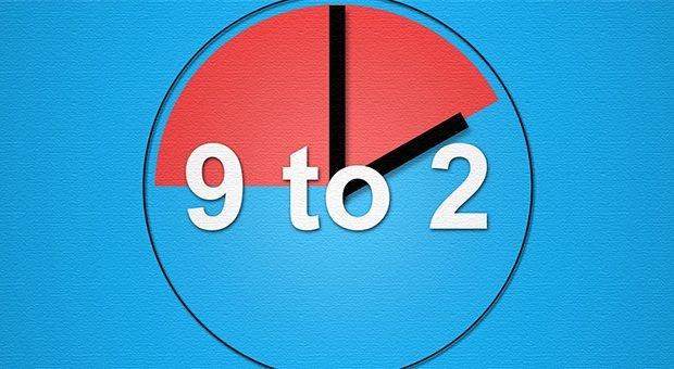 Nine to two statt nine to five: Den 5-Stunden-Arbeitstag und andere New-Work-Konzepte hält Bernhard Kuntz für Mogelpackungen.