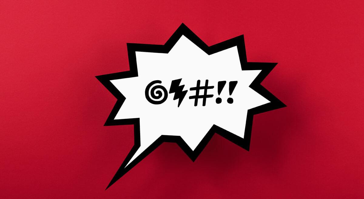 Sprechblase mit Wutausbruch: Emotionen am Arbeitsplatz werden oft als Problem wahrgenommen.