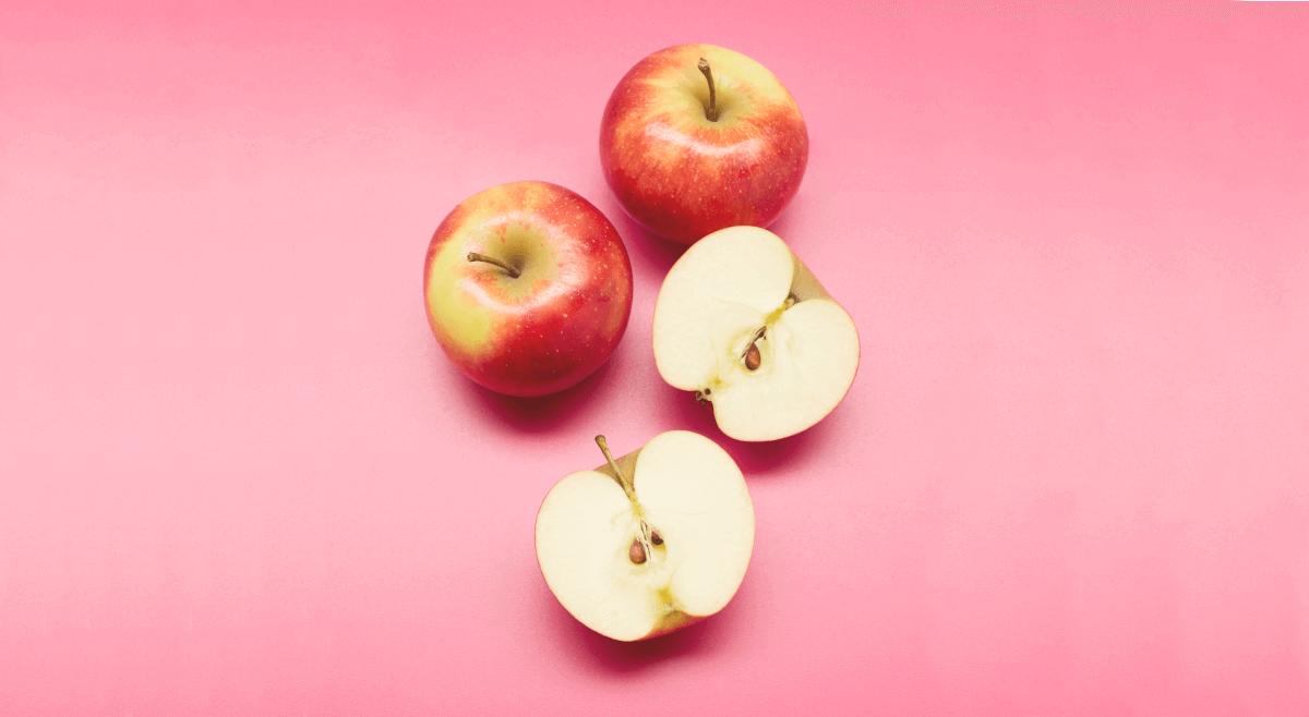 Äpfel sind ein gesunder Snack für die Ernährung und Produktivität