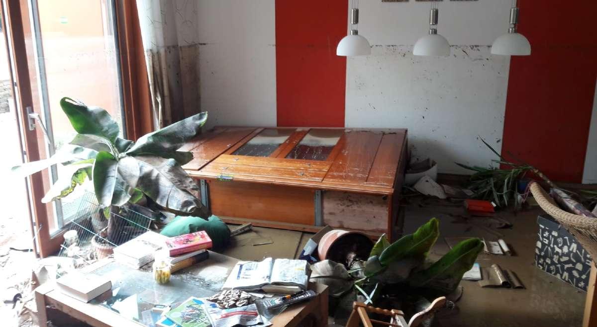 Die Flutkatastrophe hat Axel Nackes Haus zerstört